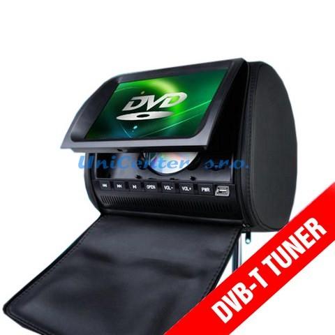 Černé kožené opěrky s DVD,DVB-T,DOTYK,HD LCD-m / 2Ks